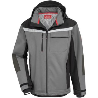 NITRAS MOTION TEX PLUS, Softshelljacke, grau / schwarz
